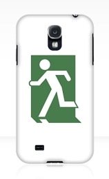 Running Man Exit Sign Samsung Galaxy Mobile Phone Case 102