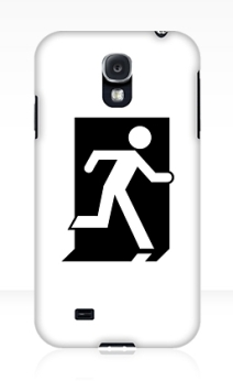 Running Man Exit Sign Samsung Galaxy Mobile Phone Case 103