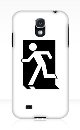 Running Man Exit Sign Samsung Galaxy Mobile Phone Case 104