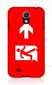 Running Man Exit Sign Samsung Galaxy Mobile Phone Case 105