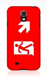 Running Man Exit Sign Samsung Galaxy Mobile Phone Case 106