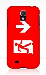 Running Man Exit Sign Samsung Galaxy Mobile Phone Case 108