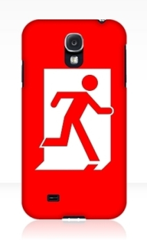 Running Man Exit Sign Samsung Galaxy Mobile Phone Case 109