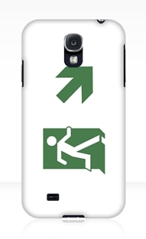 Running Man Exit Sign Samsung Galaxy Mobile Phone Case 11