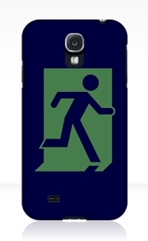 Running Man Exit Sign Samsung Galaxy Mobile Phone Case 110