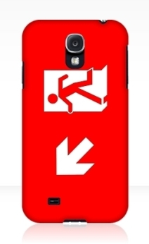Running Man Exit Sign Samsung Galaxy Mobile Phone Case 113