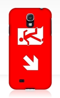 Running Man Exit Sign Samsung Galaxy Mobile Phone Case 114