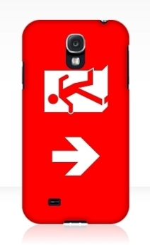 Running Man Exit Sign Samsung Galaxy Mobile Phone Case 115