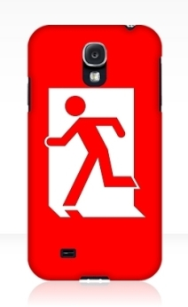 Running Man Exit Sign Samsung Galaxy Mobile Phone Case 116