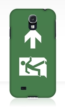 Running Man Exit Sign Samsung Galaxy Mobile Phone Case 119