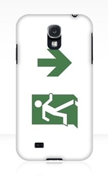 Running Man Exit Sign Samsung Galaxy Mobile Phone Case 12
