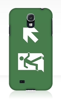 Running Man Exit Sign Samsung Galaxy Mobile Phone Case 120