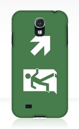 Running Man Exit Sign Samsung Galaxy Mobile Phone Case 122