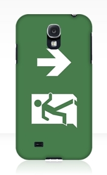 Running Man Exit Sign Samsung Galaxy Mobile Phone Case 123