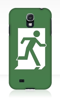 Running Man Exit Sign Samsung Galaxy Mobile Phone Case 124