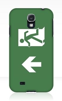 Running Man Exit Sign Samsung Galaxy Mobile Phone Case 125