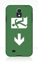 Running Man Exit Sign Samsung Galaxy Mobile Phone Case 126