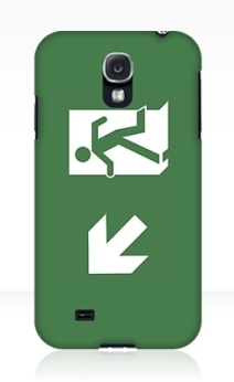 Running Man Exit Sign Samsung Galaxy Mobile Phone Case 127