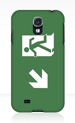 Running Man Exit Sign Samsung Galaxy Mobile Phone Case 128
