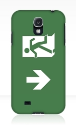 Running Man Exit Sign Samsung Galaxy Mobile Phone Case 129
