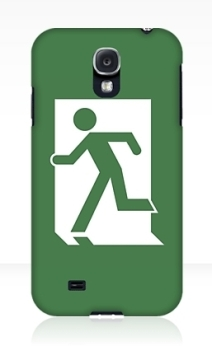 Running Man Exit Sign Samsung Galaxy Mobile Phone Case 130