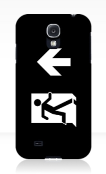Running Man Exit Sign Samsung Galaxy Mobile Phone Case 131