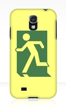 Running Man Exit Sign Samsung Galaxy Mobile Phone Case 132