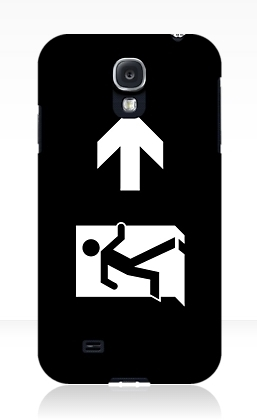 Running Man Exit Sign Samsung Galaxy Mobile Phone Case 133