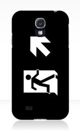 Running Man Exit Sign Samsung Galaxy Mobile Phone Case 134