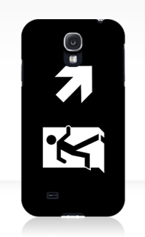 Running Man Exit Sign Samsung Galaxy Mobile Phone Case 135