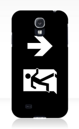 Running Man Exit Sign Samsung Galaxy Mobile Phone Case 136