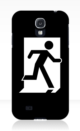 Running Man Exit Sign Samsung Galaxy Mobile Phone Case 137