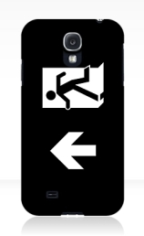 Running Man Exit Sign Samsung Galaxy Mobile Phone Case 138