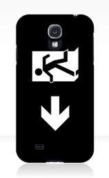 Running Man Exit Sign Samsung Galaxy Mobile Phone Case 139