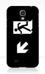 Running Man Exit Sign Samsung Galaxy Mobile Phone Case 140