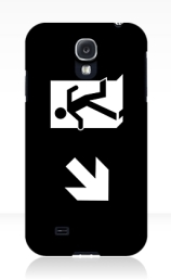 Running Man Exit Sign Samsung Galaxy Mobile Phone Case 141