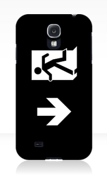 Running Man Exit Sign Samsung Galaxy Mobile Phone Case 142