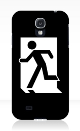 Running Man Exit Sign Samsung Galaxy Mobile Phone Case 144