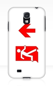 Running Man Exit Sign Samsung Galaxy Mobile Phone Case 145