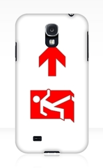 Running Man Exit Sign Samsung Galaxy Mobile Phone Case 146