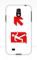 Running Man Exit Sign Samsung Galaxy Mobile Phone Case 147
