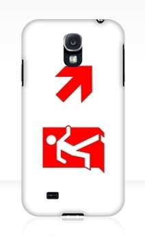 Running Man Exit Sign Samsung Galaxy Mobile Phone Case 148