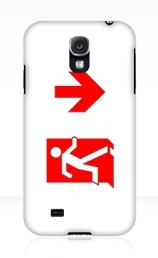 Running Man Exit Sign Samsung Galaxy Mobile Phone Case 149