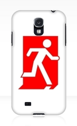 Running Man Exit Sign Samsung Galaxy Mobile Phone Case 150