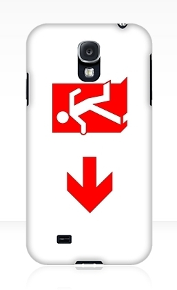 Running Man Exit Sign Samsung Galaxy Mobile Phone Case 152