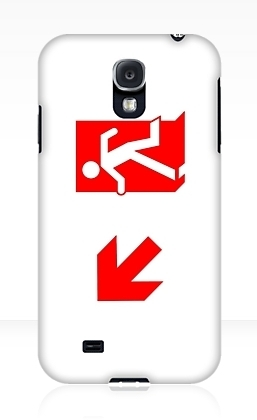 Running Man Exit Sign Samsung Galaxy Mobile Phone Case 153