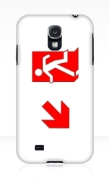 Running Man Exit Sign Samsung Galaxy Mobile Phone Case 154
