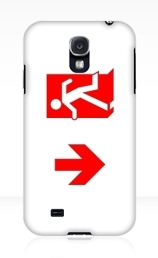 Running Man Exit Sign Samsung Galaxy Mobile Phone Case 156