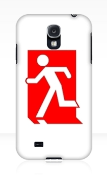Running Man Exit Sign Samsung Galaxy Mobile Phone Case 157