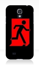 Running Man Exit Sign Samsung Galaxy Mobile Phone Case 158
